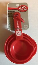 Betty Crocker Measuring Cups Kitchen Home Dishwasher Safe 1/4, 1/3, 1/2, 1 Cup