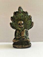 Buddha Khmer Amulet Figure Antique Bronze Mudra Hand Bass Cambodia T73