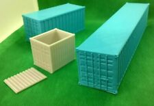 Shipping Containers Railway OO gauge Warhammer 10ft 20ft and 40ft Pack of 3