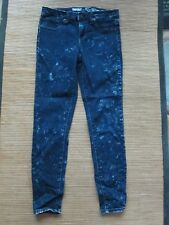 Mossimo Mid Rise Jeggings Splotchy Pattern 2 26 EUC