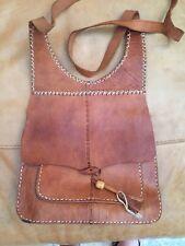 Brown Leather Shoulder Handbag