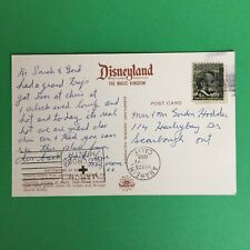 Disneyland The Magic Kingdom Postmark Anaheim California 1966 Posted Postcard
