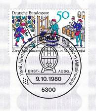 BRD 1980: Weinbau Nr. 1063 mit sauberem Bonner Ersttags-Sonderstempel! 1A! 156