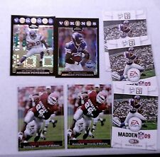 2004 ADRIAN PETERSON RC SI KIDS PRE FIRST CARD OU + 3 2008 EA SPO = 2 REFRAXCTOR