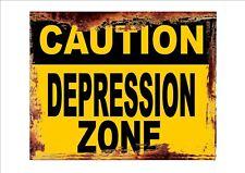 Novelty Fun Caution Metal Sign Office Sign Wall Plaque Novelty Joke sign