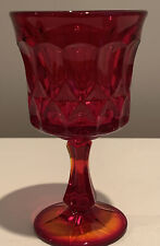"""NORITAKE PERSPECTIVE RUBY RED AMBERINA  6.5"""" WATER GOBLET PRESSED GLASS"""