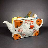 Swineside Ceramics England Novelty Teapot Suitcase Shaped Display Collectable
