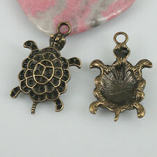 6pcs antiqued bronze color turtle design charms EF0569