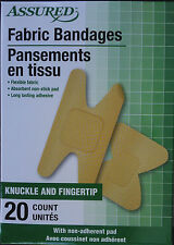 KNUCKLE AND FINGERTIP FLEXIBLE FABRIC ADHESIVE BANDAGES 20 Ct/Box