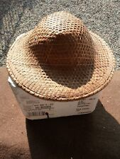 LOT# 9,VTG. ASIAN-CHINESE WOVEN, PITH HELMET STYLE, STRAW HAT