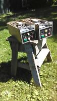 Two Broadcast Electronics 3100P cart machines for parts or repair