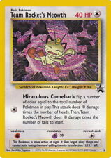 POKEMON TEAM ROCKETS MEOWTH PROMO CARD 40 HP  NO 18