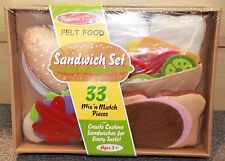 Melissa & Doug Felt Food Sandwich Set - New - preschool - toddler - Mix' n Match