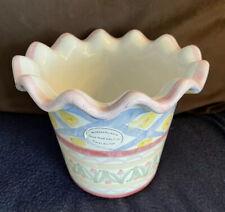 Mckenzie Childs Ceramic Flower Pot