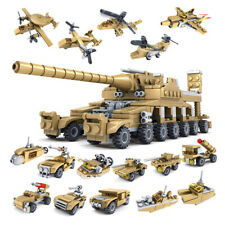 16 in 1 Army Military Tank Aircraft Building Blocks Bricks Educational Toy Kit