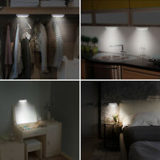 4-LED Touch Night Light Under Cabinet Closet Push Stick On Lamp Battery Operated