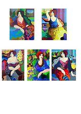 Patricia Govezensky Set of 5 Serigraphs Gloria Katy Margo Sitting Pretty Mary LE