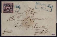 Oldenburg, Mi-Nr. 3 III, Brief, geprüft