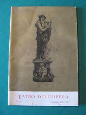 """TEATRO DELL'OPERA ROMA STAGIONE 1965-66 """"LA BELLA ADDORMENTATA"""" DI CIAIKOVSKIJ"""