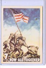 VINTAGE US RAISING FLAG IWO JIMA 7TH WAR LOAN ADVERTISING REPRODUCTION POSTCARD
