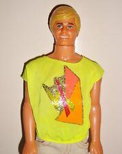 03c0683c3cc Barbie Vêtement Vintage Ken tee-shirt jaune fluo