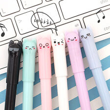 1pcs Cute Colorful Kitty 0.5mm Black Lead Ball Point Gel Ink Pen School Supplies