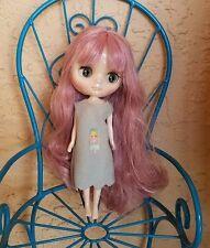 Factory Middie Type Blythe Doll -  Mauve Pink Hair / Dark Eyes
