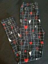 Hearts, Valentines Print Leggings (Plus size)