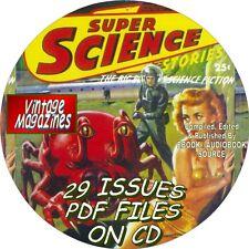 SUPER SCIENCE - 29 VINTAGE MAGAZINES - SCIENCE FICTION - PDF FILES - ON DVD