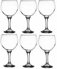 Ravenhead Large Gin Glasses Set of 6 Balloon Stemmed Wine Glasses 650ml