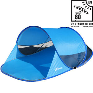 Explorer Strandmuschel Automatik PopUp Sonne UV Schutz 80+ Strandzelt Windschutz