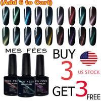 Cat Eye Magnetic UV Gel Polish Base Top Coat Soak Off LED Manicure Nails Art Set