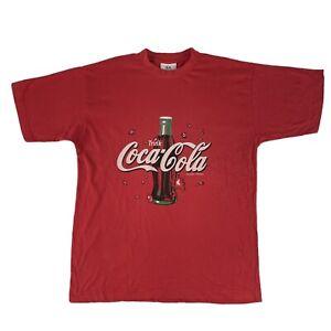 Trink Coca Cola Vintage German Coke Advertising Tee T-Shirt Size M Texco Tag
