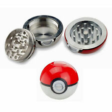 High Quality 55mm 3 Layers Pokeball Pokemon Tobacco Herb Spice Grinder Aluminum