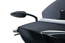 0640-1081 Mirrors Teardrop Spiegel Paar Black Harley Davidson