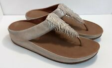 Fitflop metallic uppers beads, Cha Cha, size 43/ US 11 flip flop sandals