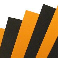 50 feuilles x A4 Halloween Noir & Orange Carte Artisanat 240gsm
