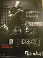 Anthrax, Scott Ian, Randall Amplifiers, Full Page Vintage Promotional Ad