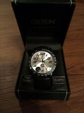 Croton CX328005 Mens Analog Silver Dial Watch