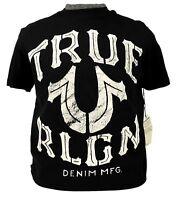 True Religion Tee Crew Neck Black Graphic Logo T-shirt Top NWT L XL 2XL 4XL