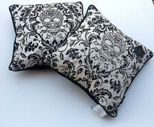 Decorative Pillow Day of the Dead Feather Filled Quality Set of 2 Black NWT