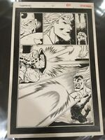 """OA Original Art! ED MCGUINNESS Fighting American #2 Page 20 11"""" by 17"""""""