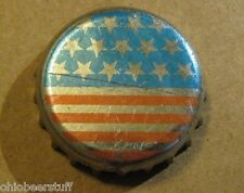 UNCOMMON DISCONTINUED STARS AND STRIPE BEER BOTTLE CAP  NON USA?