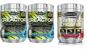 MuscleTech CreaCtor Creatine 203g - 120 Servings - Boosts Muscle Size, Flavours.