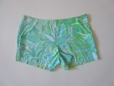 NWT Lilly Pulitzer Jeannie Short in Green Sheen Fronds Place Leaf Shorts 00 $76
