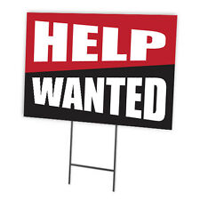 HELP WANTED FULL COLOR DOUBLE SIDED SIGN