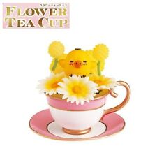 RE-MENT Rilakkuma Flower Tea Cup Figure #3 Kiiroitori Chick Gazania Pom Pom Mum