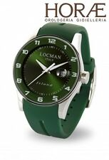 Orologio polso Uomo Locman Island 060000GW-GRW2SIG acciaio titanio verde gomma