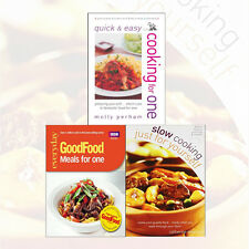 Cooking for One 3 Cook Books Collection Set (Good Food: Meals for One) NEW Pack