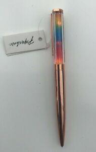 Paperchase Rose Gold Light Up Twist Pen Ballpoint Pen Gold Pen Black Ink